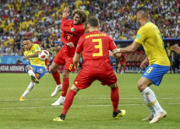 2018 FIFA World Cup Football Quarter Final Brazil v Belgium Jul 6th